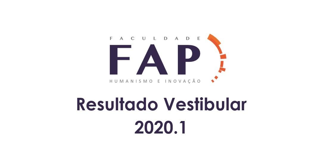 Divulgada rela��o de aprovados no Vestibular 2020/1 da FAP